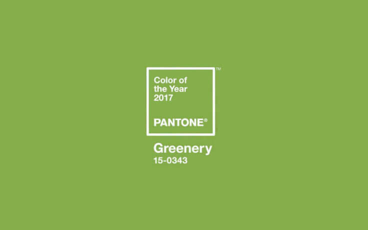 Greenery color Pantone del año 2017